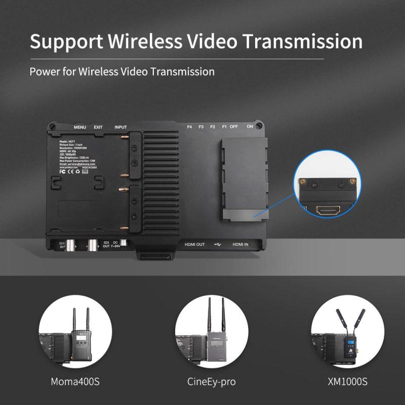 Portkeys HS7T Support Wireless Video Transmission