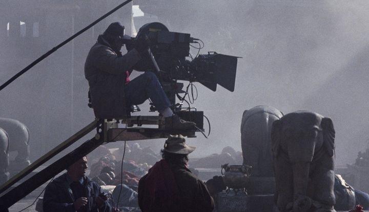"Behind the scenes of the movie ""The Last Emperor"" Director of Photography: Vittorio Storaro"