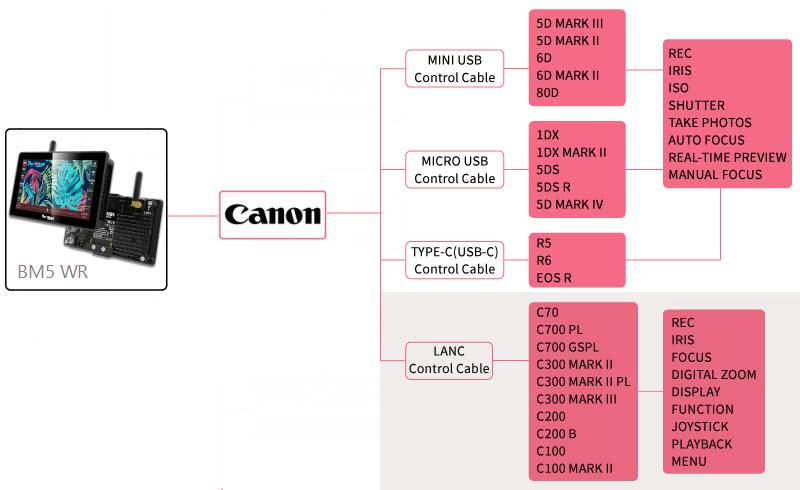 Camera Control for Canon via LANC control cable