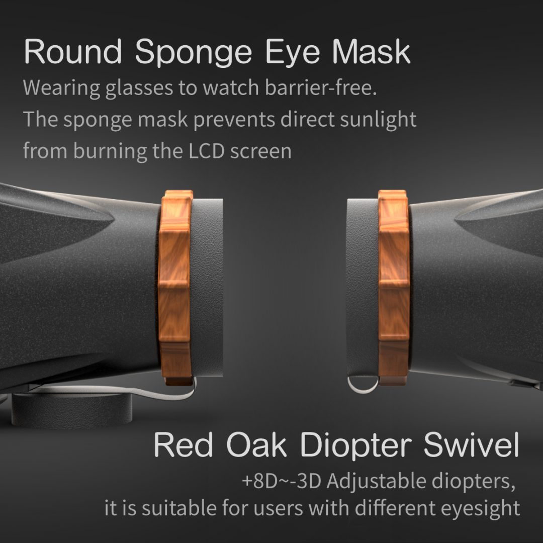 Red oak diopter swivel