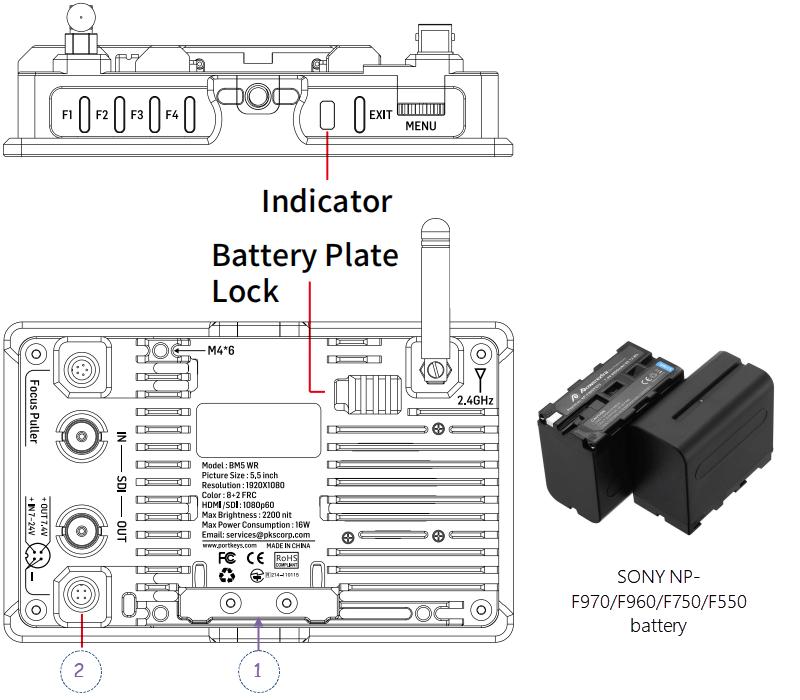 How to power Portkeys monitor