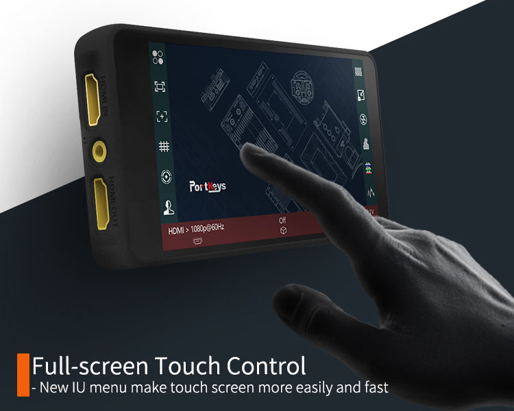 Full screen touch control
