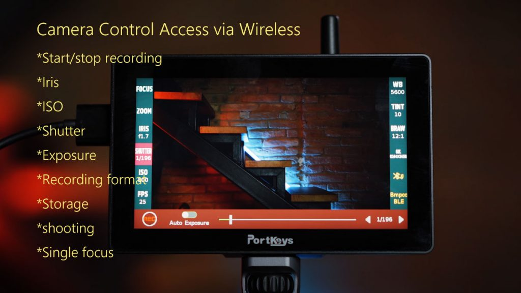 Portkeys LH5P review BMPCC 6K and Sony A7S iii wireless camera control ready