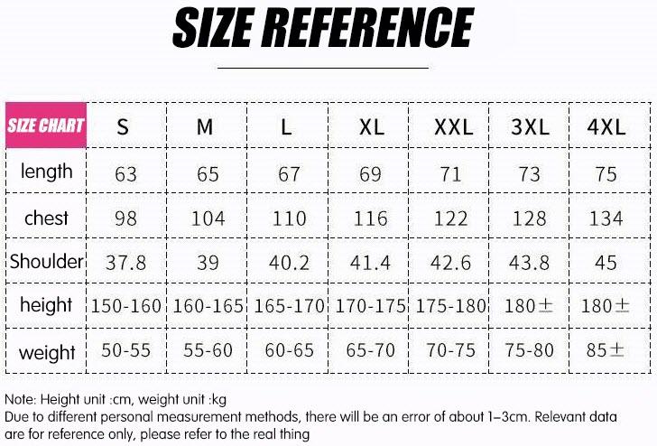 Portkeys T-Shirt size reference