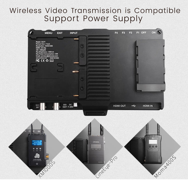 Support wireless video transmission