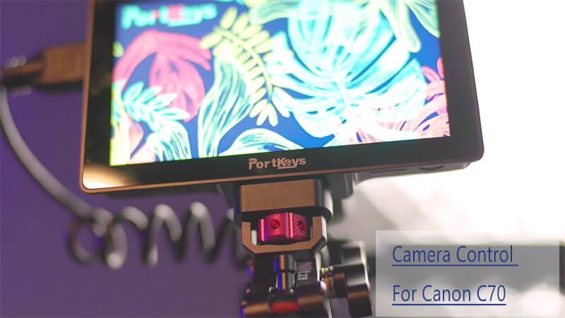 Camera control for Canon C70
