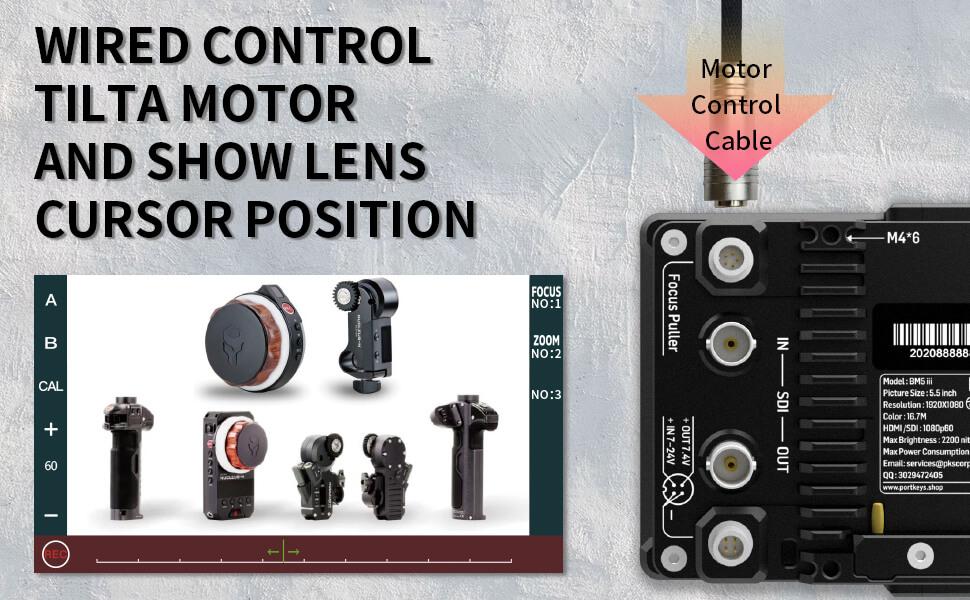 Wired motors control tilta nucleus N/M